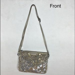 Mz Wallace Never Used gold/silver crossbody purse